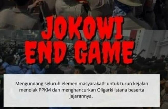 Poster Jokowi End Game. Foto: Twitter.